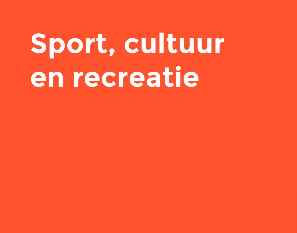 Sport, cultuur en recreatie